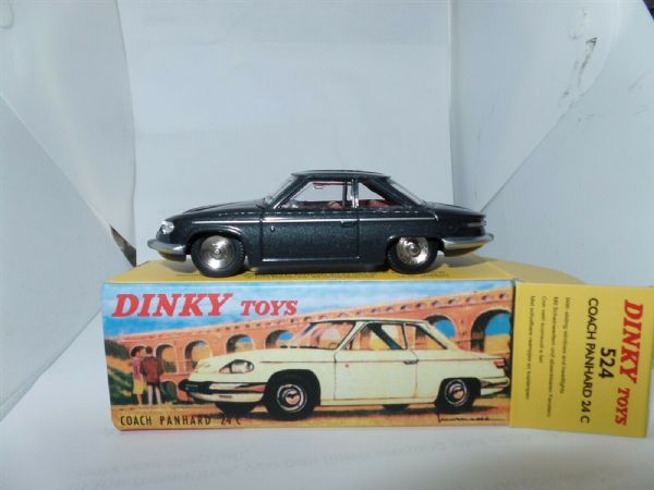 Atlas French Dinky 524 PANHARD 24C BLACK CAR
